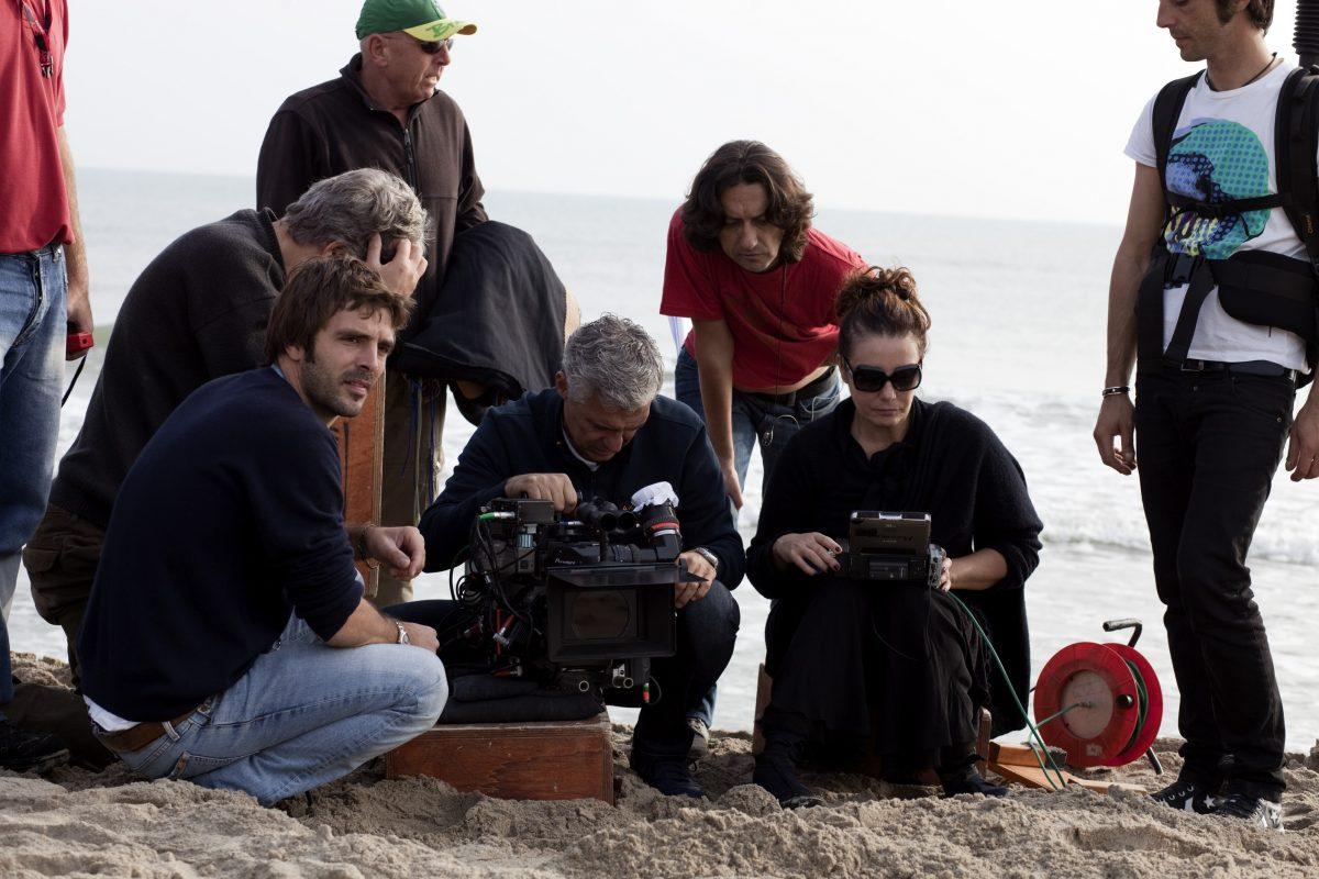 Sul set de I baci mai dati 2010 con Fabio Zamarion direttore della fotografia